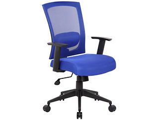 Lucian Blue Desk Chair, , large