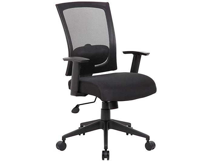 Lucian Black Desk Chair, , large