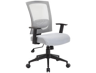 Lucian Grey Desk Chair, , large