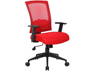 Lucian Red Desk Chair, , large