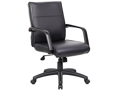 Perry Black Desk Chair, , large