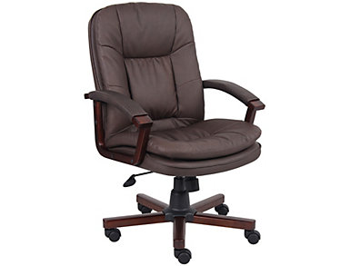 Billy Brown Desk Chair, , large