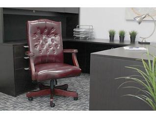 Classic Burgundy Desk Chair, Burgundy, large