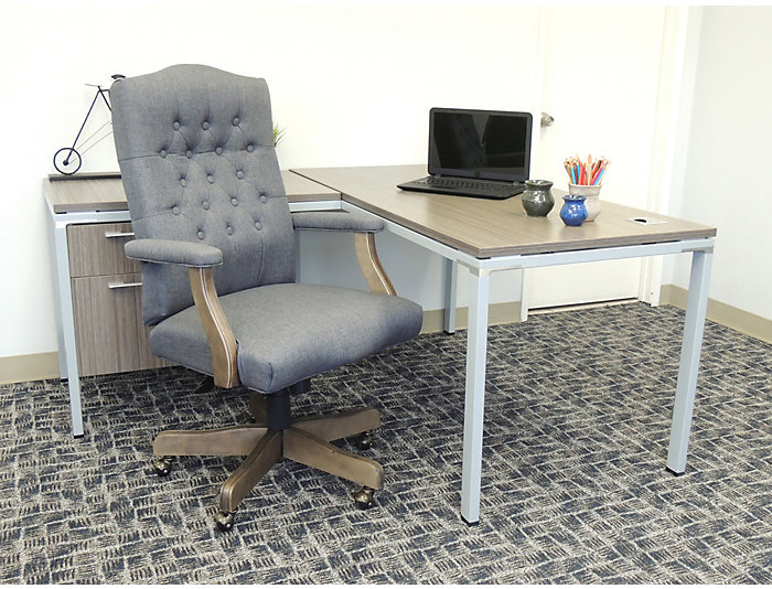Classic Grey Desk Chair, , large