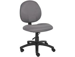 Diamond Grey Desk Chair, , large
