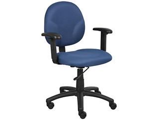 Diamond Blue Arm Desk Chair, , large