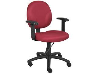 Diamond Red Arm Desk Chair, , large
