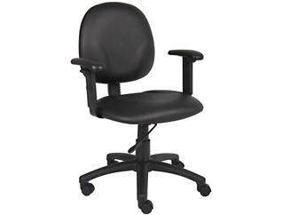 Diamond Black Arm Desk Chair, , large