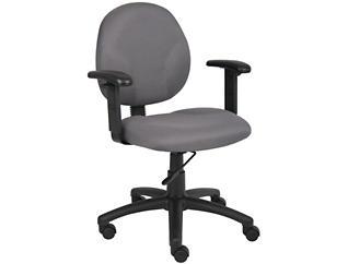 Diamond Grey Arm Desk Chair, , large