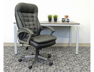 Robin High-Back Black Desk Chair, , large