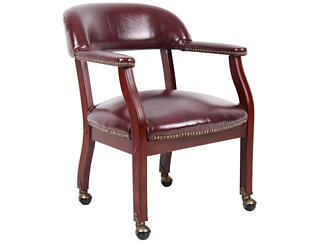 Harper Red Chair w/ Casters, , large