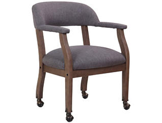Harper Grey Chair w/ Casters, , large