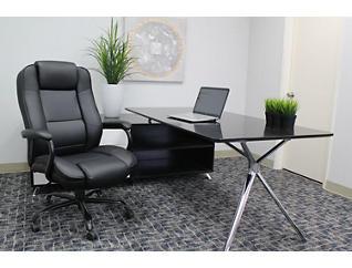 Sebastian Black Desk Chair, , large