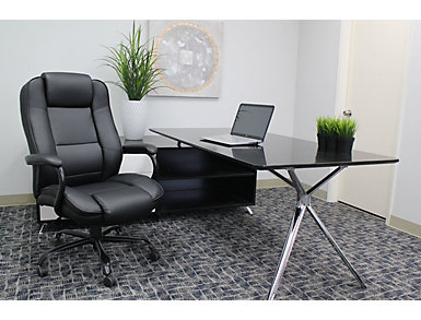 Sebastian Black Desk Chair, , large