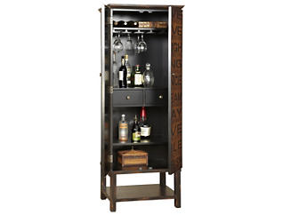 Tall Two Tone Sentiments Wine Cabinet, , large