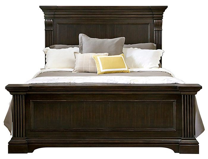 caldwell king panel bed large - King Panel Bed