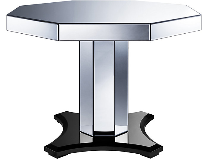 Smoked Mirrored Octagon Table, , large