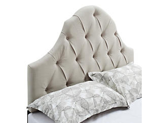 Tufted White Queen Headboard, , large