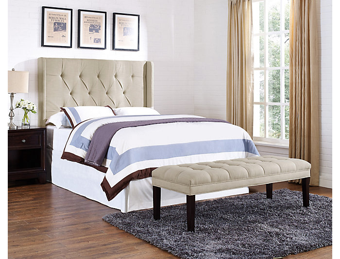 Tufted Wings Queen Headboard, , large