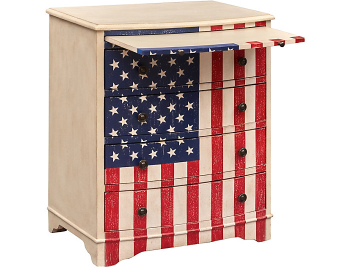 American Flag Drawer Chest, , large