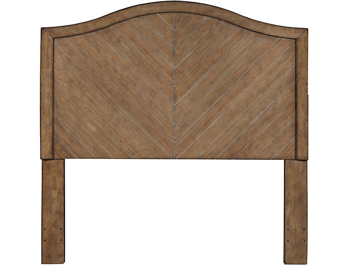 Chevron Oak Queen Headboard, , large