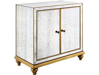 Creswell Mirrored Wine Cabinet, , large
