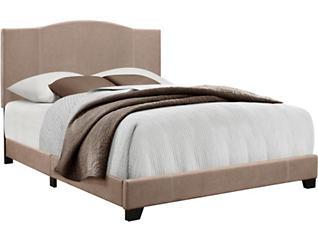 Queen Denim Sand Camel Bed, , large