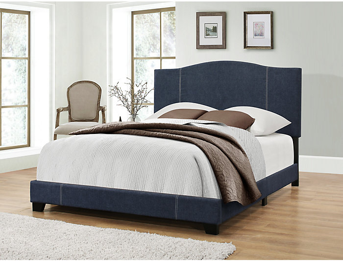 King Denim Vintage Camel Bed, , large