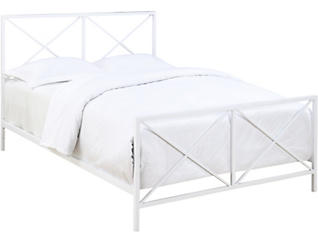 All-In-One Queen White  X  Bed, , large