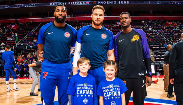 Detroit Pistons Players with Children (Honorary Captains)