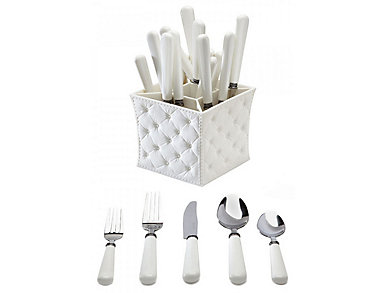 Provence 20 Piece Set with Caddy, , large