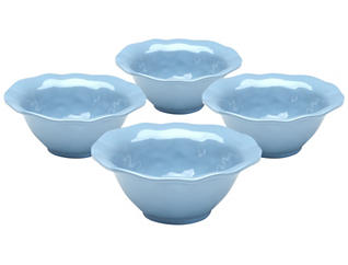 Ruffle Ceral Bowl, Set of 4, , large