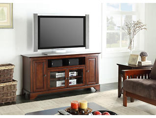 "Irvington 60"" Cherry TV Stand, Brown, large"