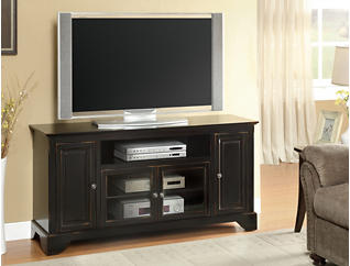 "Irvington 60"" Black TV Stand, Black, large"