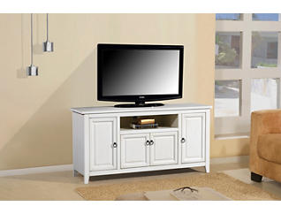"Arden 60"" Antique Creme TV Stand, Cream, large"