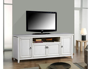 "Arden 72"" Antique Creme TV Stand, Cream, large"