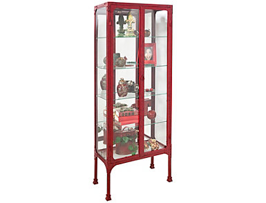 Kildair Red Curio Cabinet, , large