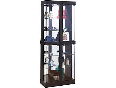 Rohe Black Curio Cabinet, , large