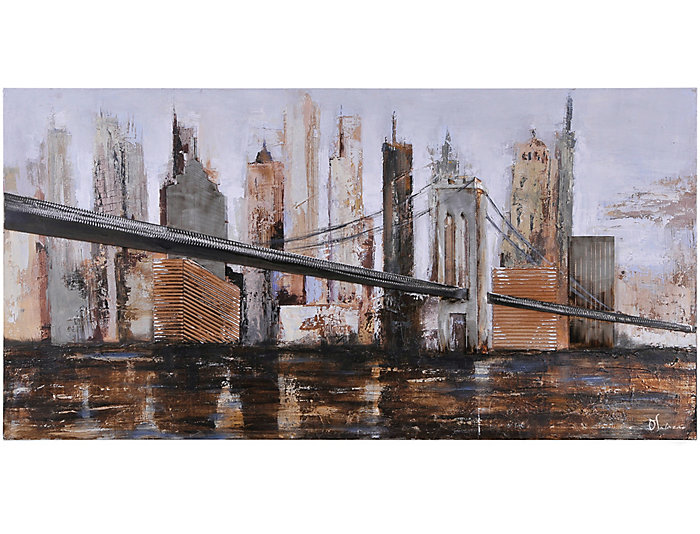 Urban Bridge Wall Art, , large