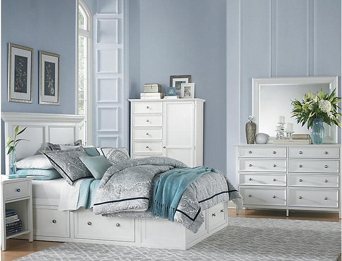 Abbott White Queen 3 Piece Bedroom Set   Art Van