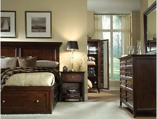 Abbott Cherry King Panel Bed, , large