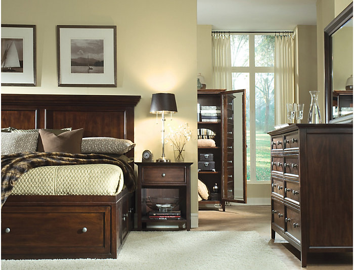 Abbott King Storage Bed, , large