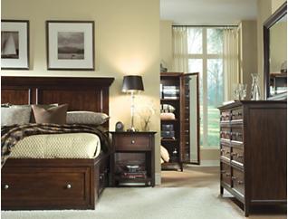 Abbott Cherry King Storage Bed, , large