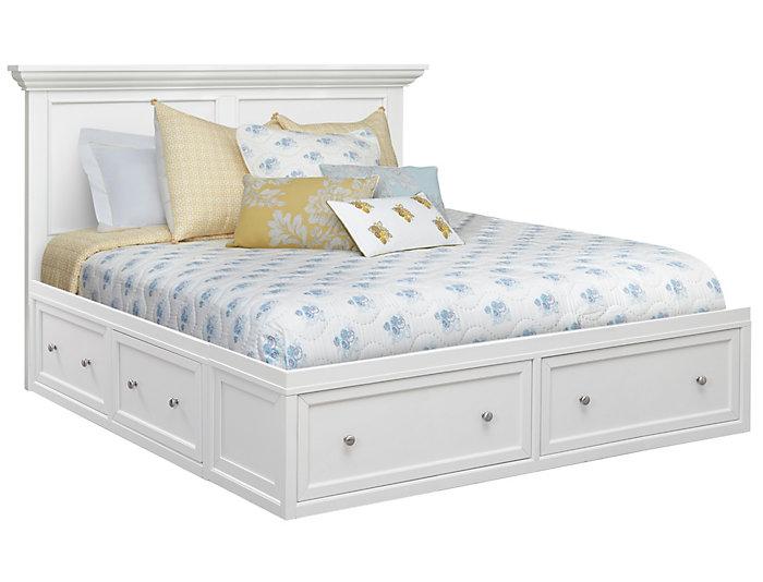 Abbott White King Storage Bed Art Van Home - White-king-bed-frame
