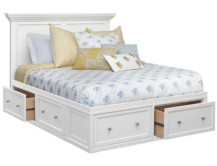 Abbott White King Storage Bed
