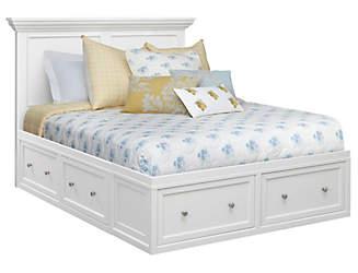 abbott white queen storage bed