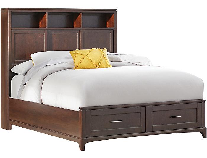 Chelsea Queen 3 Piece Bookcase Storage Bedroom Set