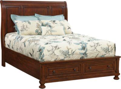glendale queen storage bed