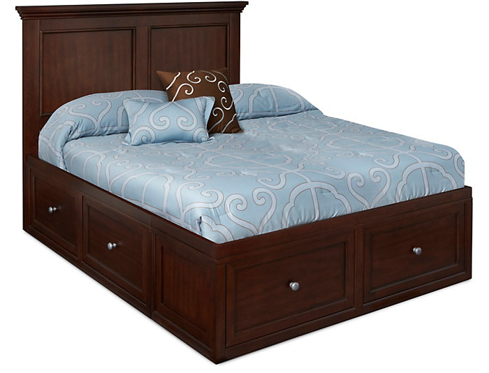 Abbott Cherry Youth Full Panel Bed with 2 Sided Storage, , large