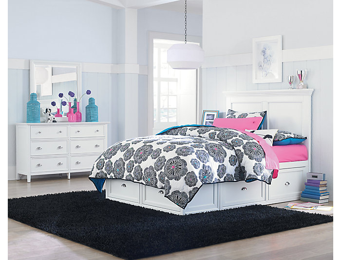 Full Panel Bed - 2Side Storage, , large